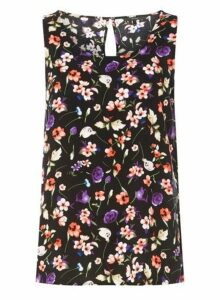 Womens **Vero Moda Black Floral Top, Black