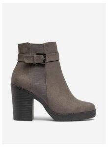 Womens Grey 'Aggy' Chunky Chelsea Boots, Grey