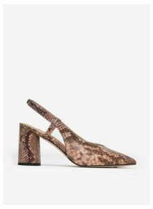 Womens Pink 'District' Snake Print Court Shoes- Animal, Animal