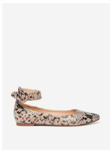 Womens Multicolour Snake Print 'Poppet' Pumps- Brown, Brown