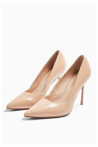 Womens **Wide Fit Georgia Nude Court Shoes - Nude, Nude