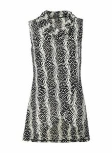 Womens *Izabel London Multi Coloured Abstract Print Tunic Top- Black, Black