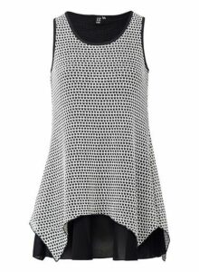 Womens *Izabel London Black Sleeveless Top, Black