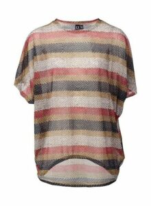 Womens *Izabel London Multi Colour Striped Batwing Top, Multi Colour