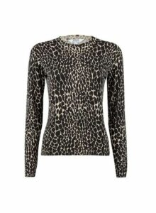 Womens Petite Abstract Print Jumper- Animal, Animal
