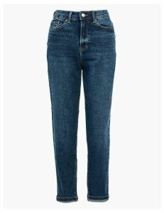 M&S Collection High Waist Mom Fit Ankle Grazer Jeans