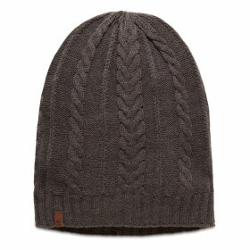 Timberland Cable Knit Slouchy Beanie For Women In Grey Grey, Size ONE
