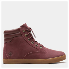 Timberland Dausette High Top Sneakers For Women In Burgundy Burgundy, Size 9