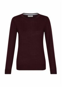 Penny Merino Wool Sweater Mulberry XL