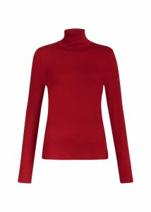 Mischa Roll Neck Raspberry
