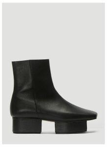 Flat Apartment Block Heel Boots in Black size EU - 40