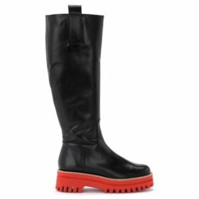 Paloma Barcelò  Paloma Barcelò boot in red leather with ultralight red rubber  women's High Boots in Black