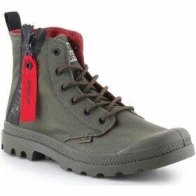 Palladium  Pampa Unzipped 76443-309-M  women's Shoes (High-top Trainers) in Green