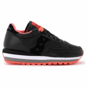 Saucony  Jazz Triple sneaker made of black leather with red details  women's Shoes (Trainers) in Other