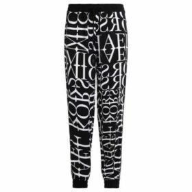 MICHAEL Michael Kors  logoed trousers in white and black color  women's Sportswear in Black