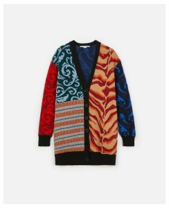 Stella McCartney Multicolour Multicolour Knit Cardigan, Women's, Size 4