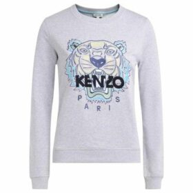 Kenzo  Tigre gray sweatshirt with multicolored front embroidery  women's Sweatshirt in Grey