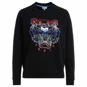 Kenzo  Tigre black sweatshirt with multicolored front embroidery and  women's Sweatshirt in Black