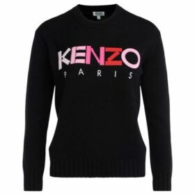 Kenzo  shirt in black fabric with multicolored front logo  women's Sweater in Black