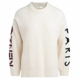 Kenzo  Chunky sweater in ecrù wool. Logo along the sleeves  women's Sweater in Beige