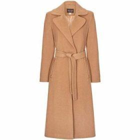 Anastasia  Camel Womens Cashmere Wrap Belted Coat  women's Trench Coat in Beige
