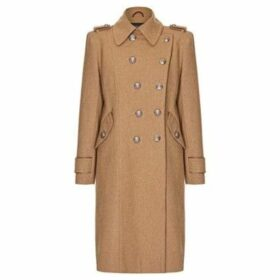 Anastasia  Camel Womens DB Twill military With Pipng  women's Coat in Beige