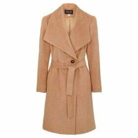 Anastasia  Womens Winter Belted Wrap Coat  women's Trench Coat in Beige