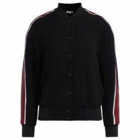 Kenzo  black bomber jacket with multicolor Tiger embroidery on the  women's Tracksuit jacket in Black