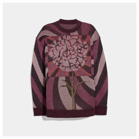 Coach Sweater With Kaffe Fassett Carnation Print