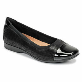 Clarks  UN DARCEY CAP  women's Shoes (Pumps / Ballerinas) in Black