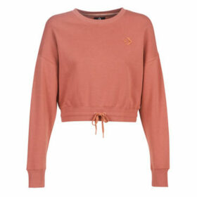 Converse  CROPPED CREW  women's Sweatshirt in Pink