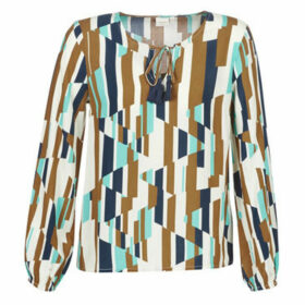 Cream  RIANNA  women's Blouse in Multicolour