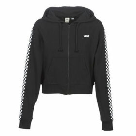 Vans  FUNNIER TIMES CROP ZIP HOODIE  women's Sweatshirt in Black