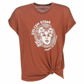 Volcom  BREAKNOT SS  women's T shirt in Brown