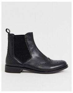 Dune Parks leather chelsea boot in black