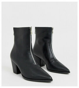 Z_Code_Z Exclusive Hua black zip front boots