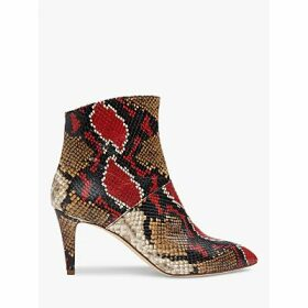L.K.Bennett Bethan Snake Print Leather Ankle Boots, Multi