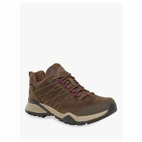 The North Face Hedgehog Hike II Mid Women's Waterproof Gore-Tex Hiking Shoes, Bipartisan Brown/Pamplona Purple