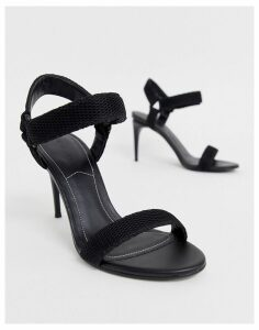 Kendall + Kylie barely there heeled sandals-Black