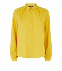 Yellow Balloon Sleeve Shirt New Look