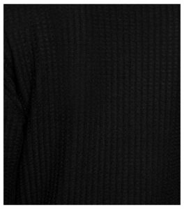 Black Brushed Waffle Roll Neck Jumper New Look