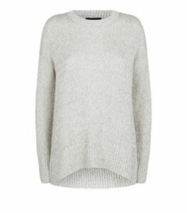 Pale Grey Crew Neck Jumper New Look
