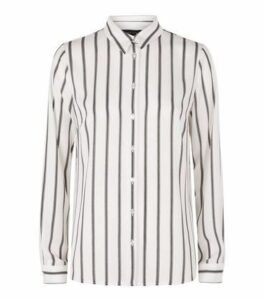 White Stripe Long Sleeve Shirt New Look