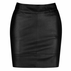 Only Base Leather Skirt