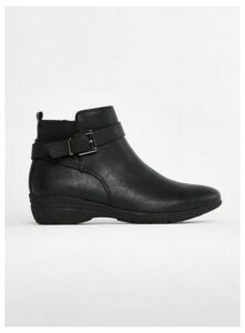 Wide Fit Comfort Fit Ankle Boots, Black