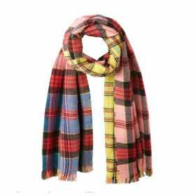 Multi-Coloured Checked Scarf