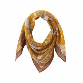 Wool Bird Print Scarf