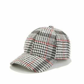 Checked Plaid Print Cap