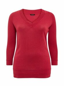 Berry V-Neck Jumper, Pink