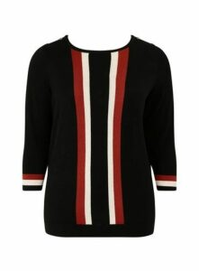 Black Vertical Stripe Jumper, Black